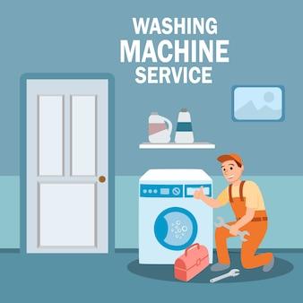 Plumber specialist repair washing machine