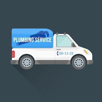 Plumbing express service cargo vehicle