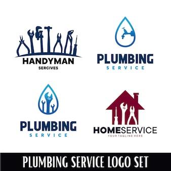 Plumbing and homer service logo design template