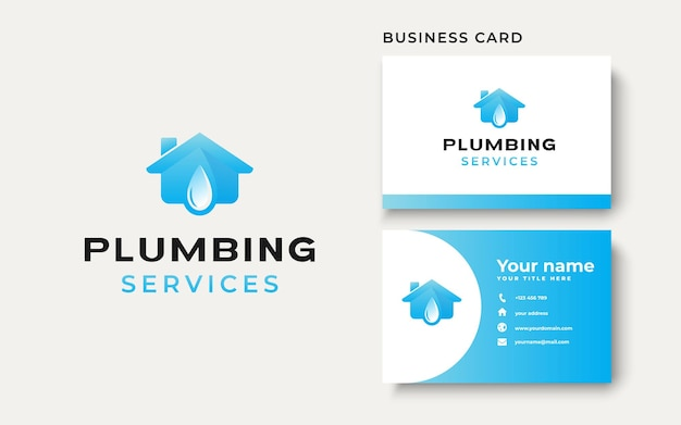Plumbing house logo template isolated in white background. vector illustration