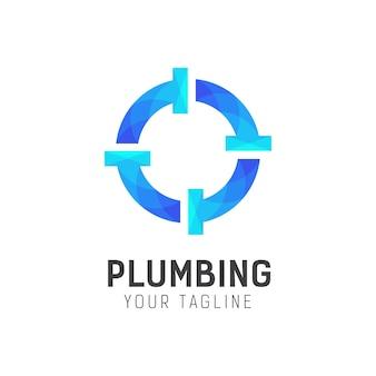 Шаблон дизайна логотипа сантехники