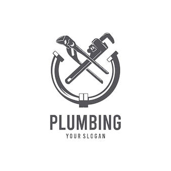 Шаблон логотипа сантехника