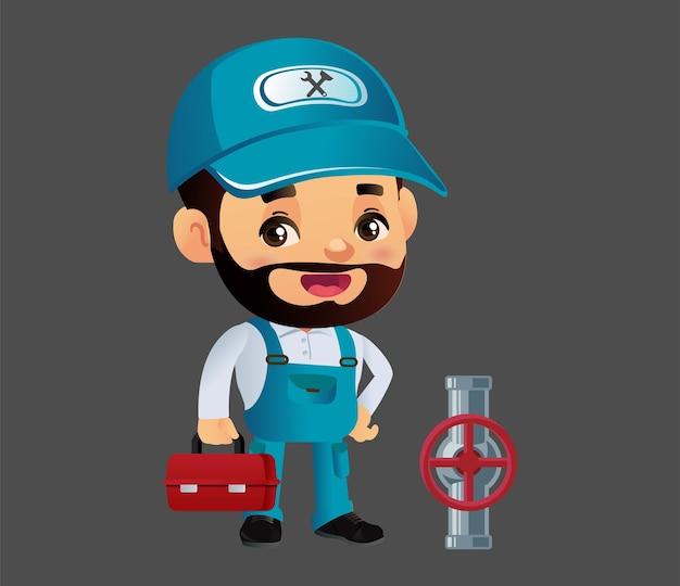 修理工との配管サービス構成