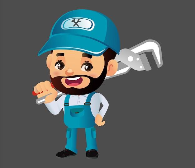 Состав сантехнической службы с ремонтником