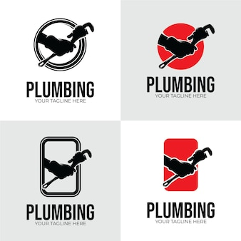 배관 서비스 로고 디자인 영감