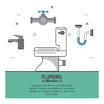接写や配管のトイレで配管サービス