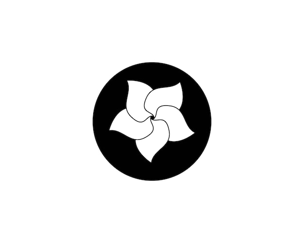 Plumeria flower beauty logo