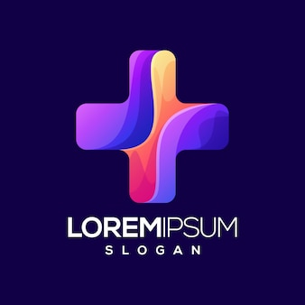 Plus gradient color logo
