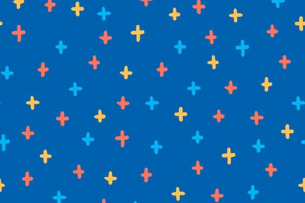 Segno più sfondo del desktop, simpatico doodle vettoriale