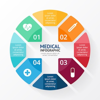 Plus sign infographic template medical healthcare presentation health symbol hospital logo