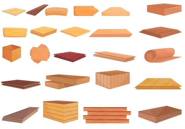 Plywood icon. cartoon of plywood icon isolated