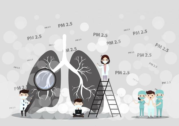 Концепция загрязнения воздуха pm2.5.