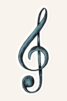 Png treble clef note sticker