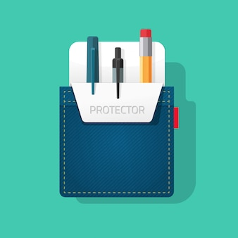 Pocket protector for pens and pencils