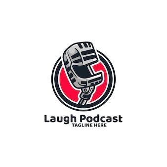 Podcast broadcast mic news recording logo