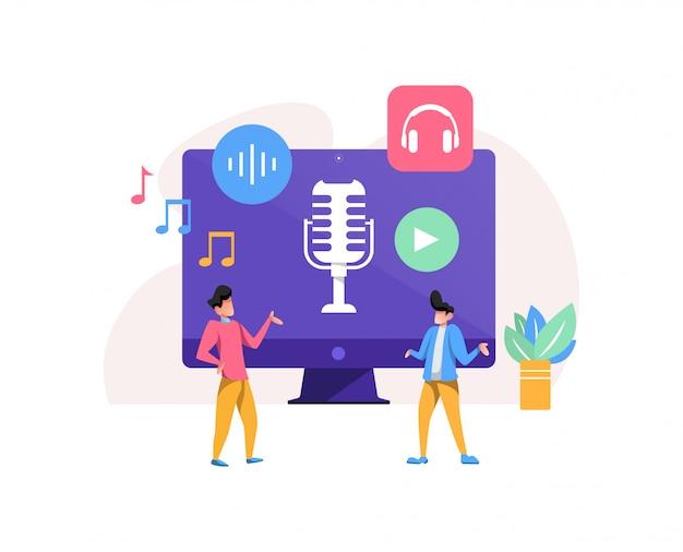 Podcast concept illustration
