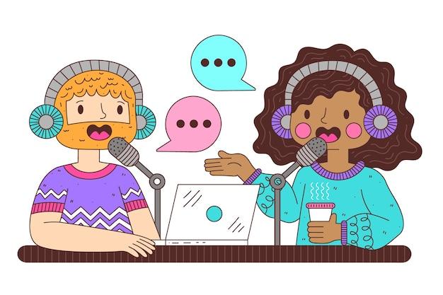 Иллюстрация концепции подкаста
