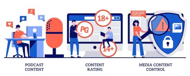 팟 캐스트 콘텐츠 등급, 작은 사람들과의 미디어 콘텐츠 제어 개념