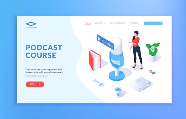 Podcast course website