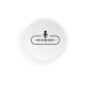 Кнопка со значком подкаста. вектор на изолированном белом фоне. eps 10.