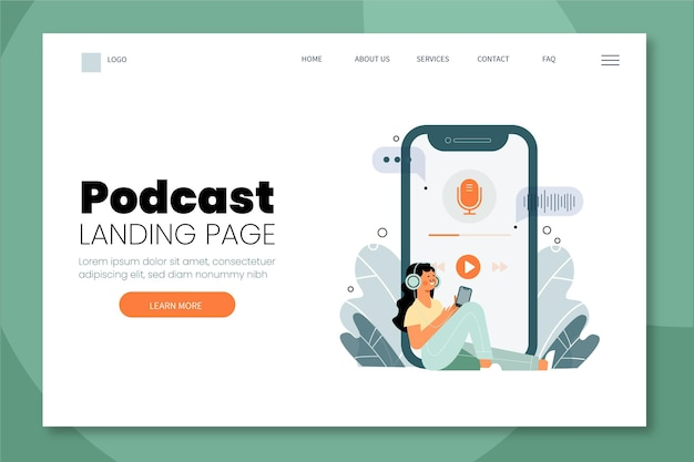 Podcast landing page illustration