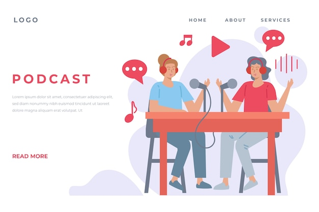 Podcast landing page template