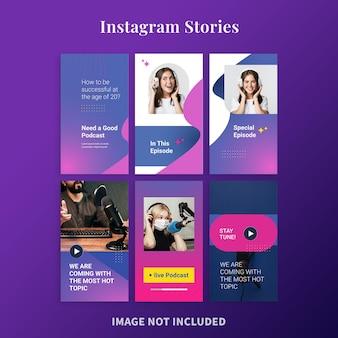 Подкаст live для историй из instagram
