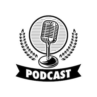 ポッドキャストのロゴのイラストデザイン