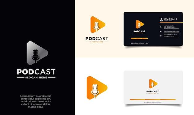 Podcast logo template