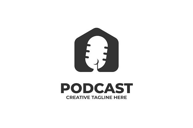 ポッドキャストマイクトークショーのロゴ
