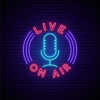 Podcast neon sign.