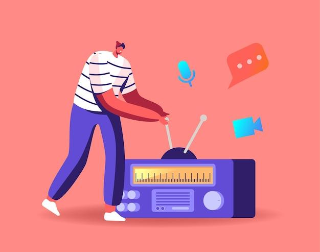 Podcast social media communication concept