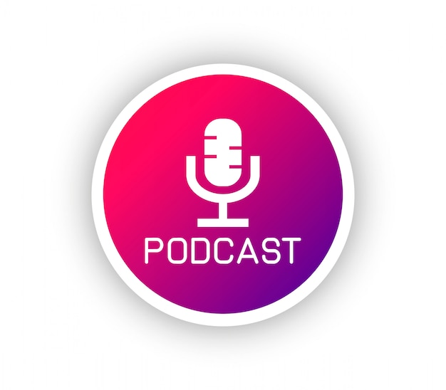 Podcastグラデーションロゴ