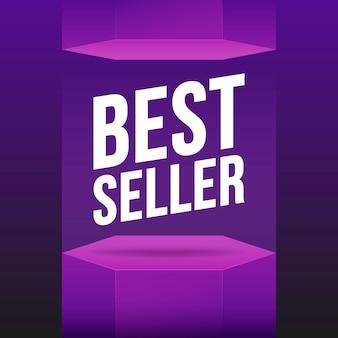 Podium best seller violet illustration