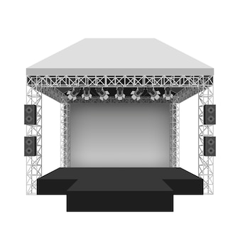 Podium concert stage. performance show entertainment, scene and event.