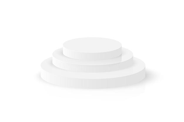 表彰台dラウンドステージサークル白い台座空のショールームプラットフォーム