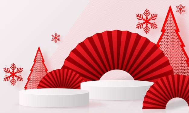 Подиум круглый сценический подиум и бумажное искусство китайский новый год китайские фестивали фестиваль середины осени