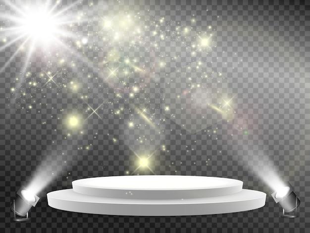Подиум сцена для церемонии награждения пьедестал прожектор подиум в свете звезд