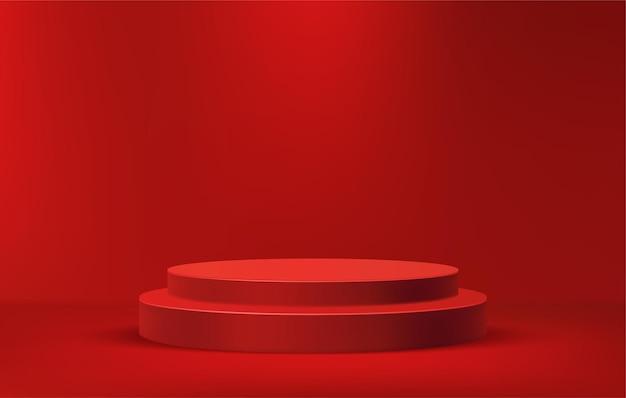 最小限のシーンで製品を展示するための表彰台の階段