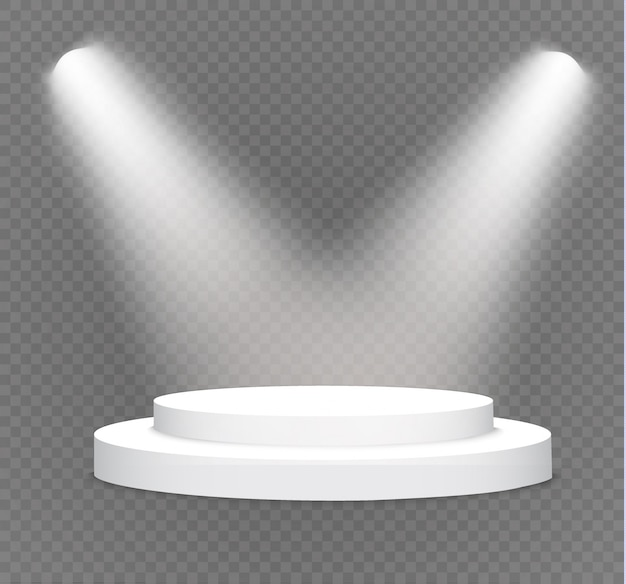 Podium on a transparent background