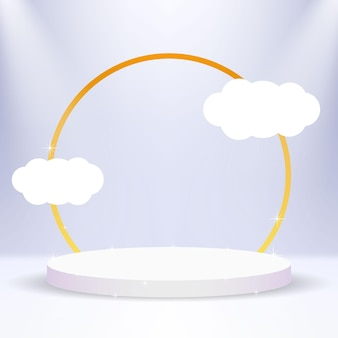 Подиум с облаками