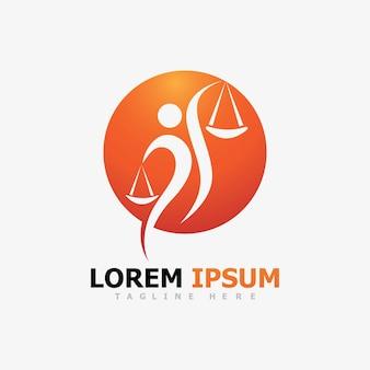 Poeple law justice logo vector image