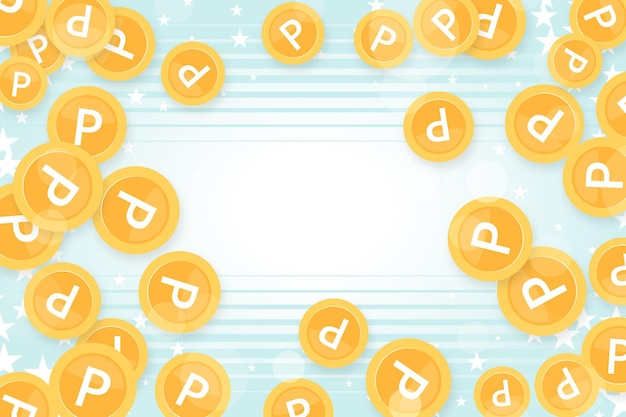 Punto sfondo di monete