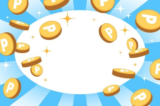 Carta da parati punti monete