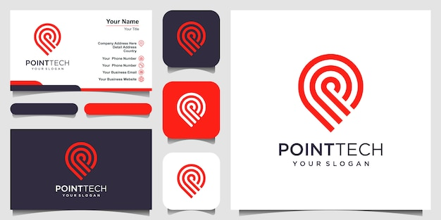 Point tech logo template .