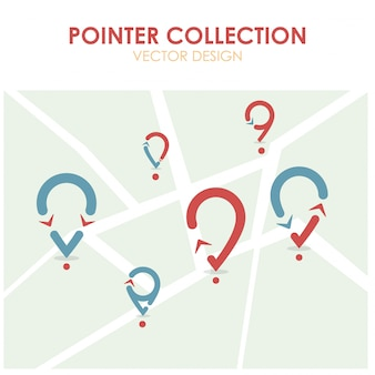 Pointer collection with map background