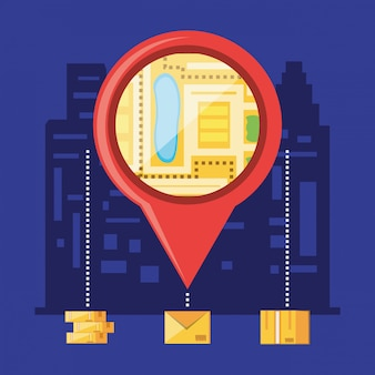 Pointer location with logistic service objects