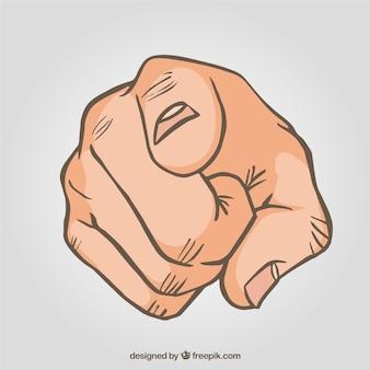 Указывая пальцем