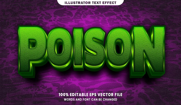 Poison 3d editable text style effect