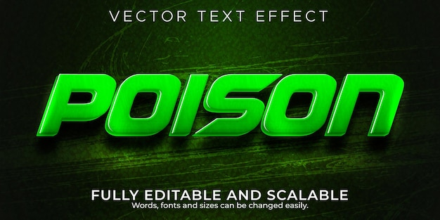 Эффект ядовитого текста, редактируемая гадюка и игровой стиль текста